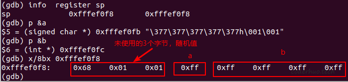 符号位扩展gdb信息